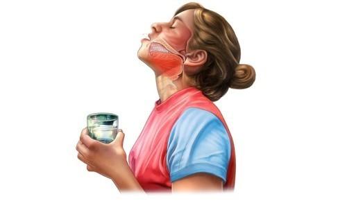 При болях в горле, затрудненном выведении мокроты и затяжном кашле рекомендуется полоскание