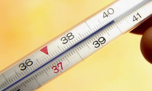При повышении температуры тела до +38,5ºC и более назначаются жаропонижающие (Парацетамол МС)