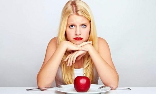В случае приема таблетированного средства может появиться снижение аппетита