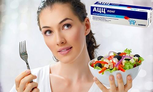 Лекарство АЦЦ принимают сразу после приема пищи