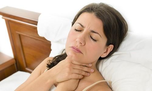 Длительное лечение с применением высоких доз Левомицетина может вызвать боль в горле