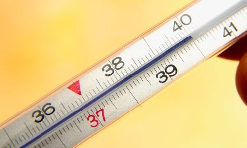 При рецидиве повышается температура тела до 38ºC